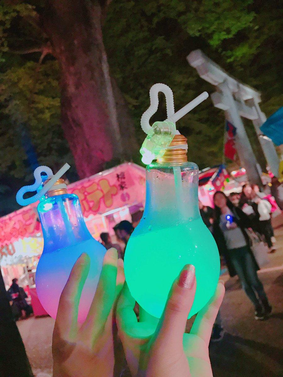 花火大会夏祭りで見つけた電球ジュース